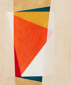 Celia Gullett, Geometric Abstraction XXIV, 2017, oil on panel