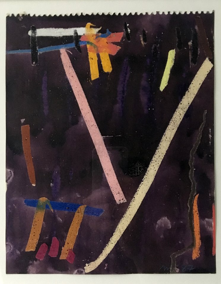 Michael Johnson, Collins Street #4, 1987, mixed media on paper