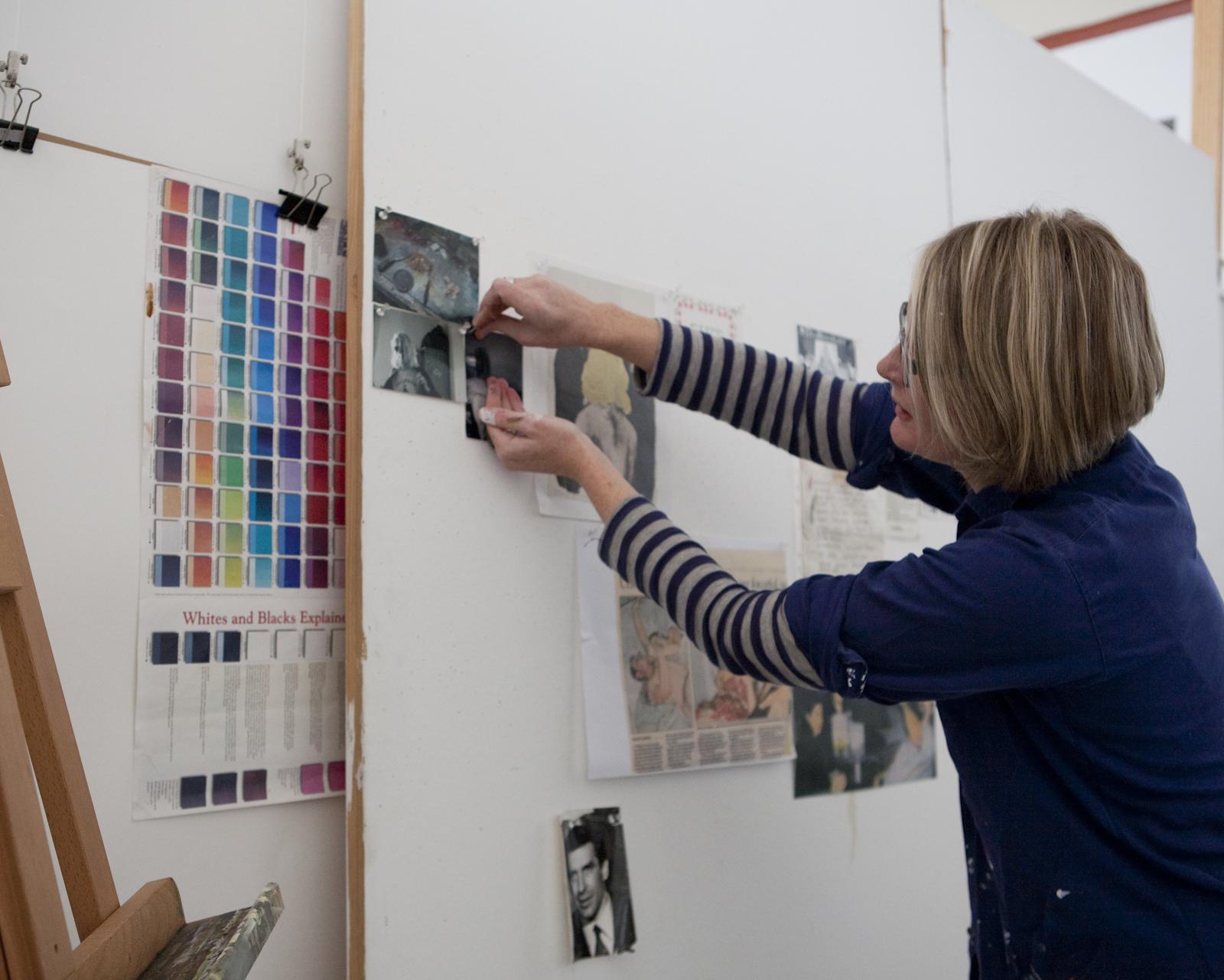 Madeleine Preston in her studio
