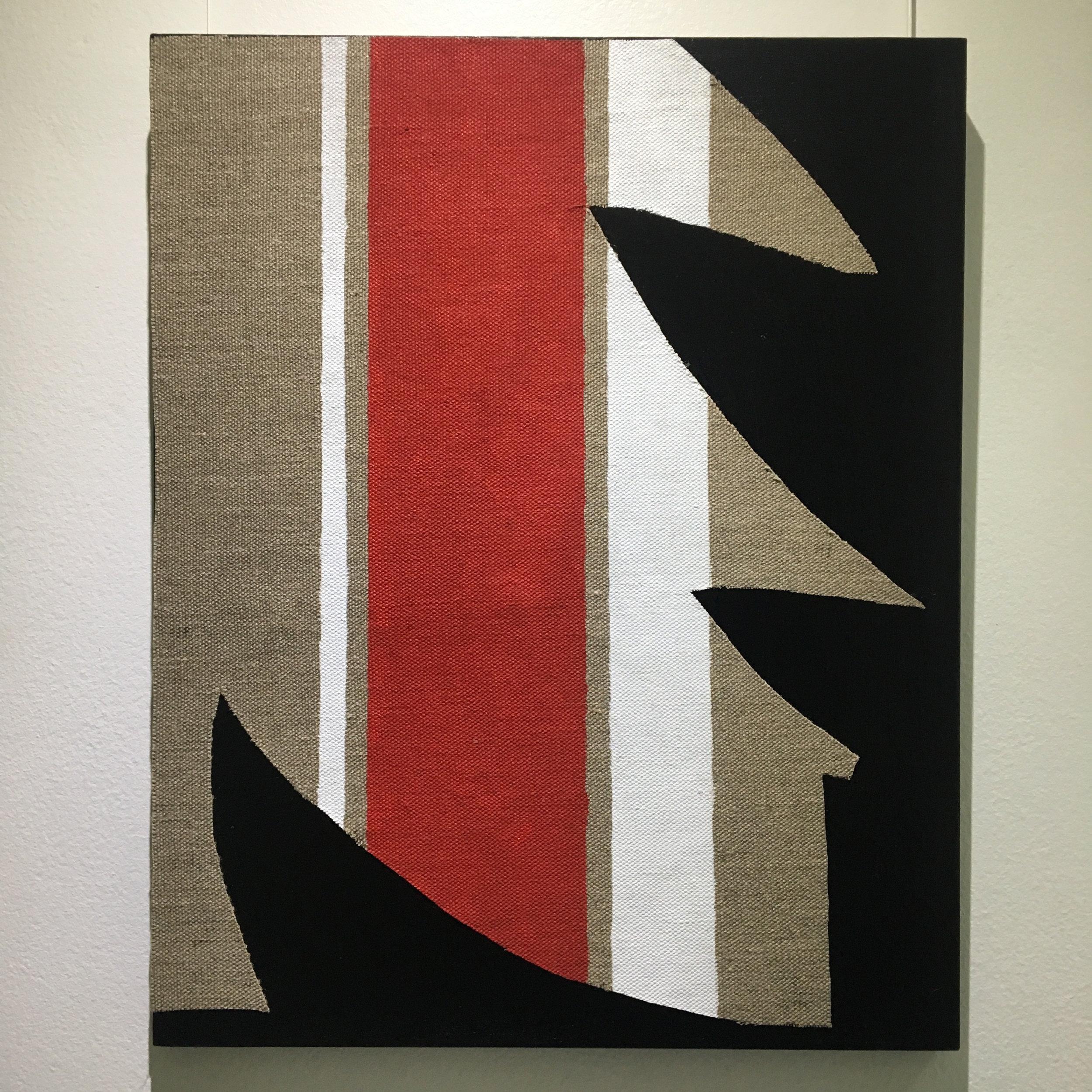 Elizabeth Pulie, #87 (la commedia dell'arte), 2018, acrylic and linen on board