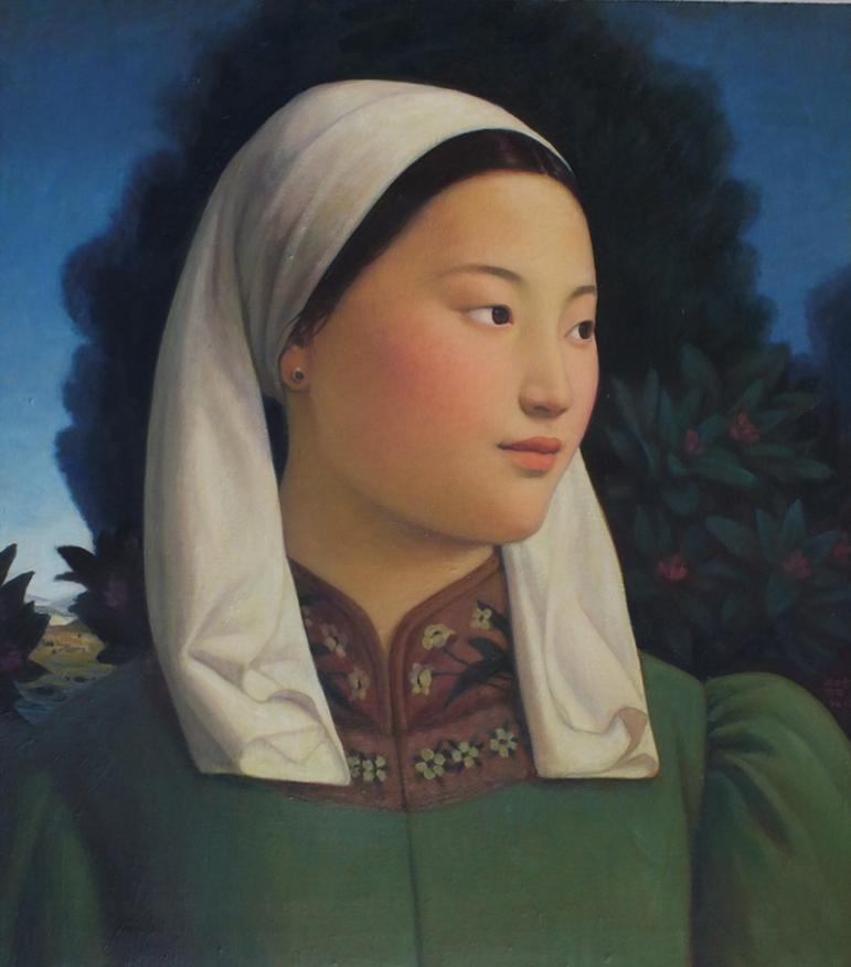 Mongolian Girl, 2012, oil on linen, 75.5 x 66cm.jpg