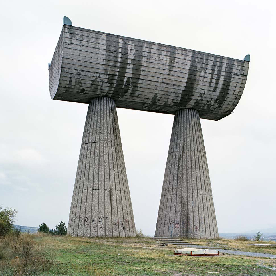 'Monument to the Mining Heroes' in Mitrovića. Image by Jan Kempenares