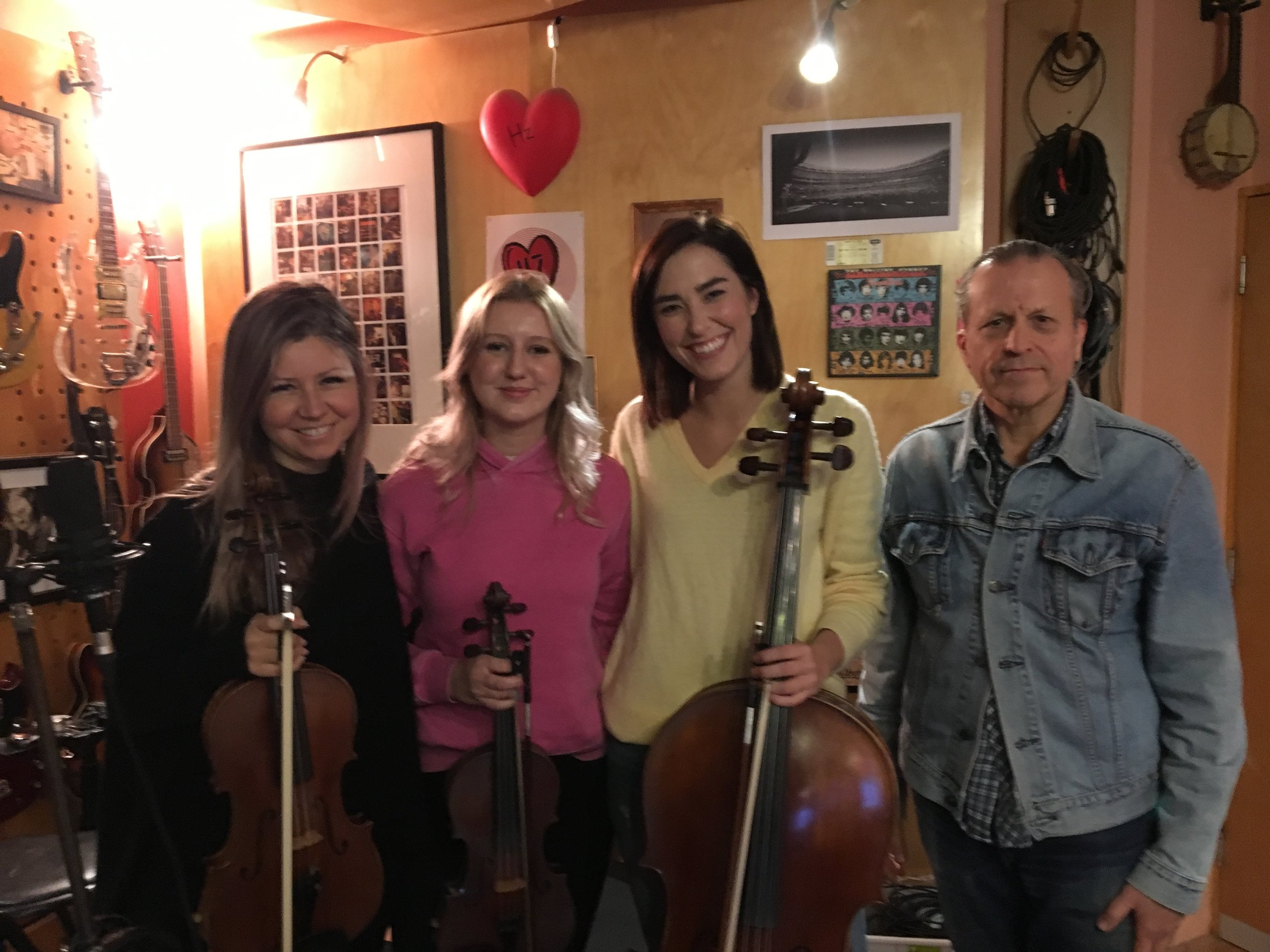 Dora, Emma and Annie from Vixen Strings and AB