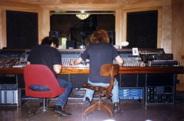 me and Mitch mixing at Fidelitorium