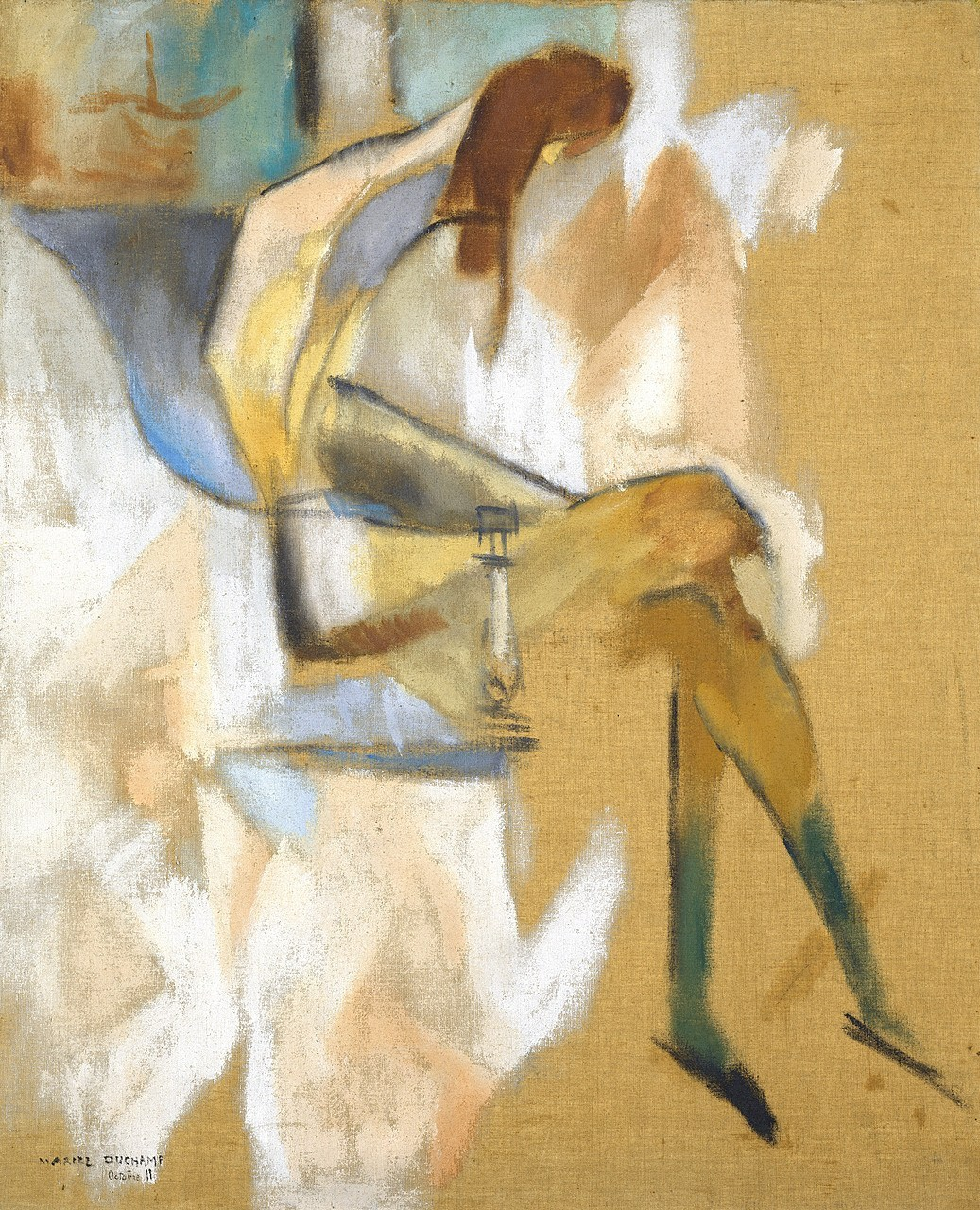 Marcel Duchamp (1887-1968), Apropos of Little Sister, 1911, oil on canvas