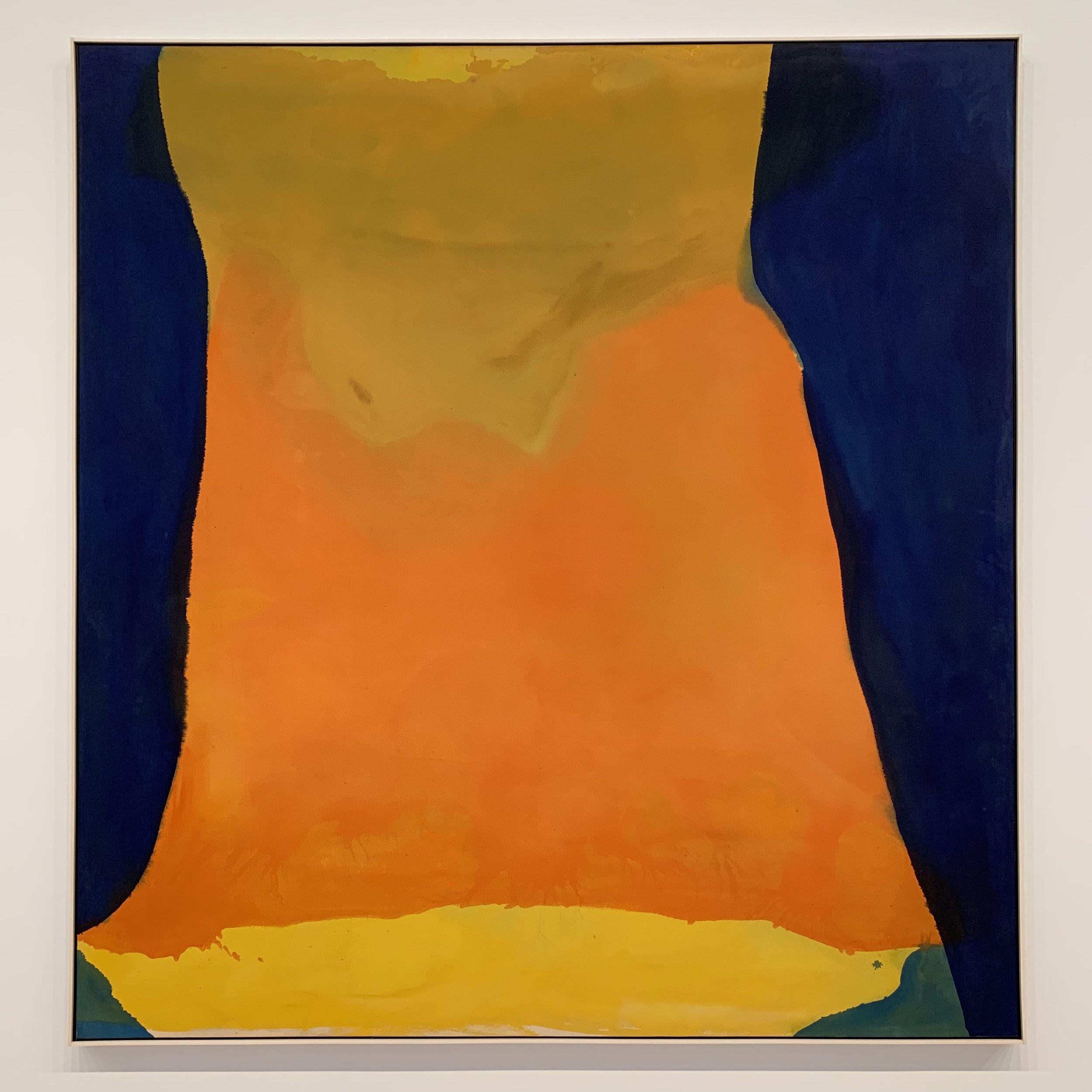 Helen Frankenthaler (1928-2011), Orange Mood, 1966, acrylic on canvas.