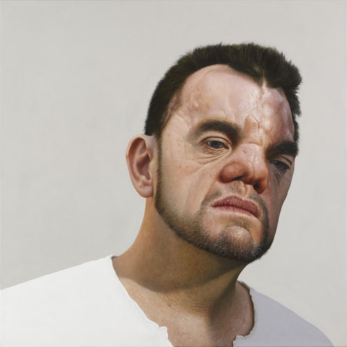 Nick Stathopoulos, Ugly - Portrait of Robert Hoge, 2014, acrylic and oils on linen