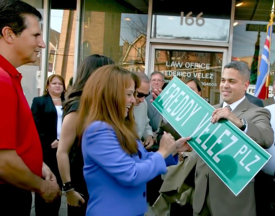 Mary Receiving Street Sign.jpg