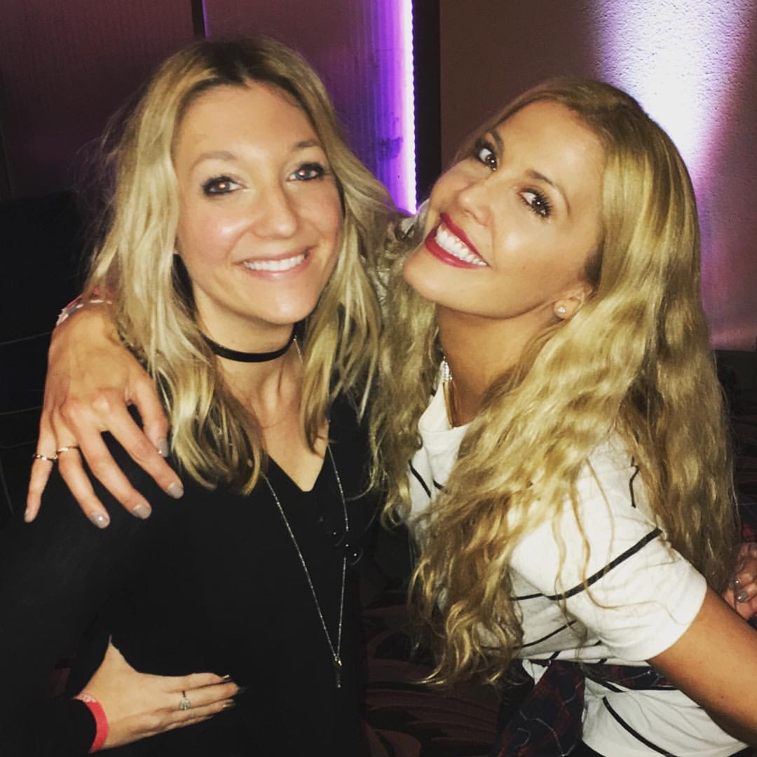 Kimberly with client Caleche Ryder at CMT's  Next Women of Country  show in LA.