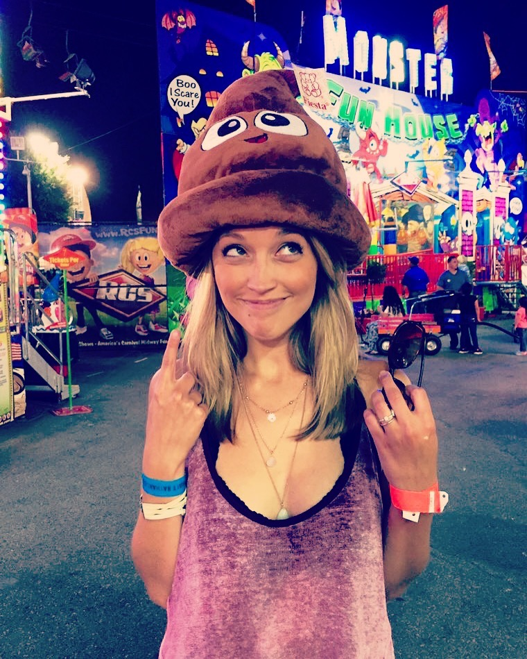 As referenced above, the poop emoji hat in question.
