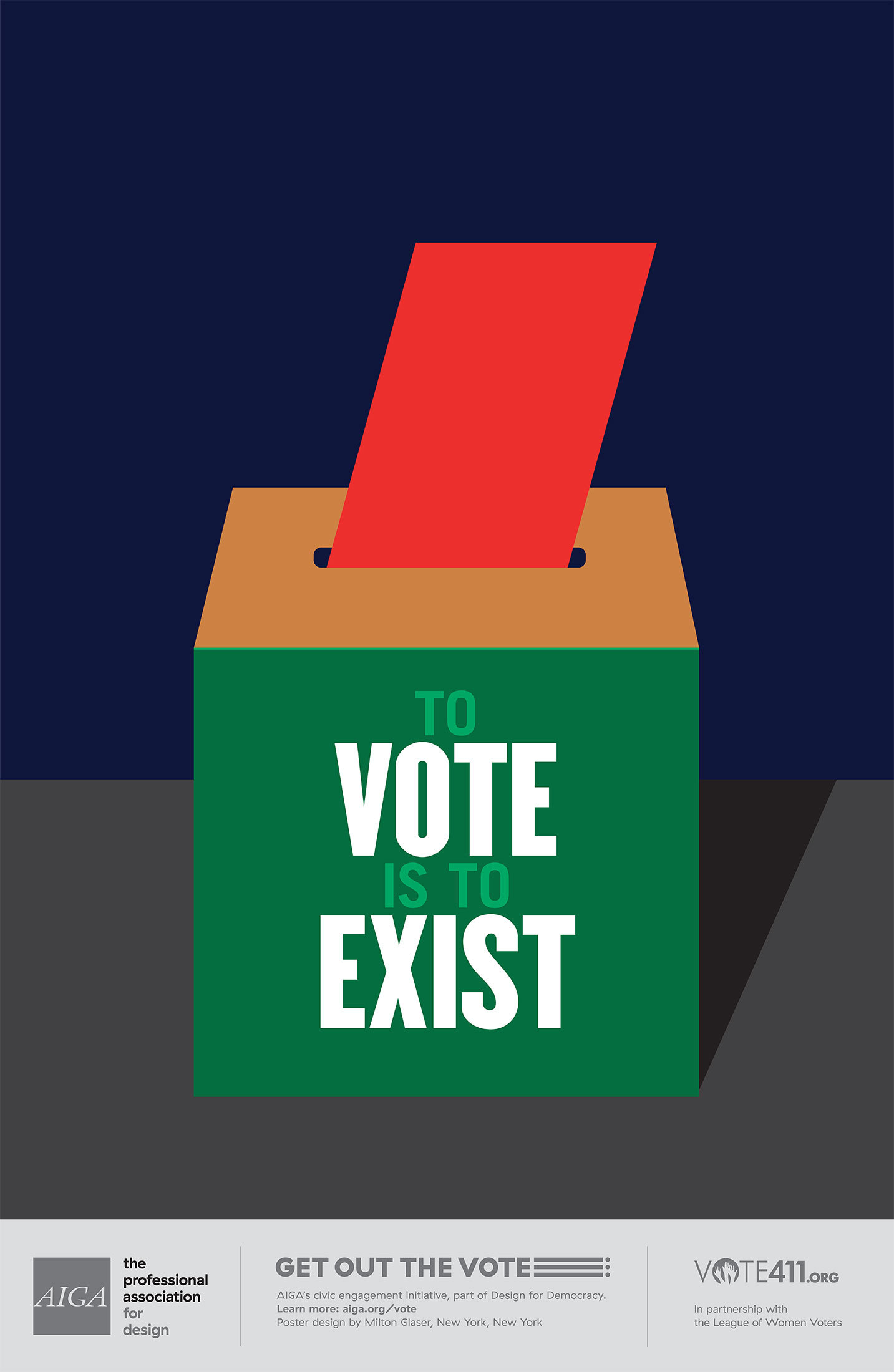 Source: Milton Glaser and the  AIGA  +  Vote411