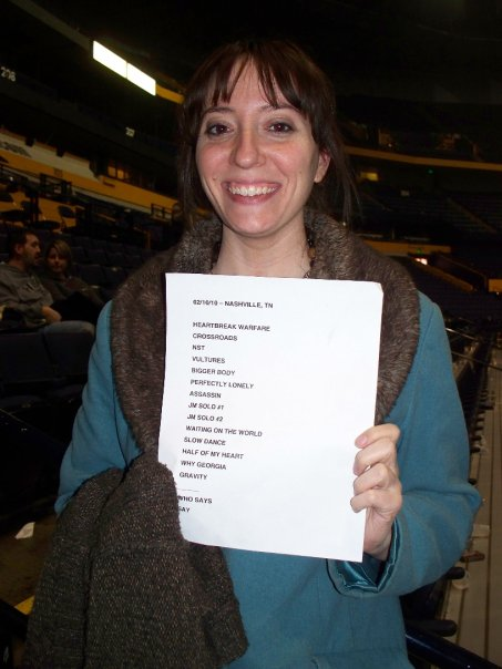 Proof that our love only grows fonder over the years- this was at John Mayer's infamous Nashville show in 2010, where he apologized for the Playboy interview.