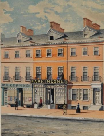 Parkinson's Ice Cream Shop, courtesy of the  Historical Society of Philadelphia
