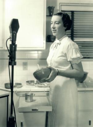 Agnes White as Betty Crocker.