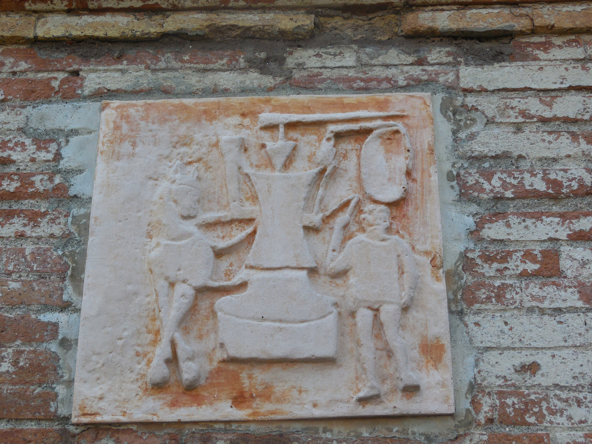 Images of a blacksmith's trade outside family tomb  (I  mage  via Flickr/ isafmt ,  CC BY 2.0 )