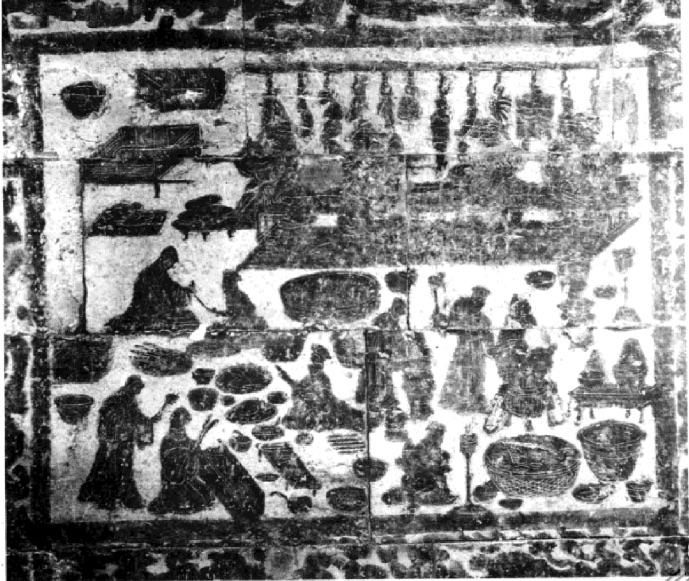 The stone relief of the Dahuting kitchens