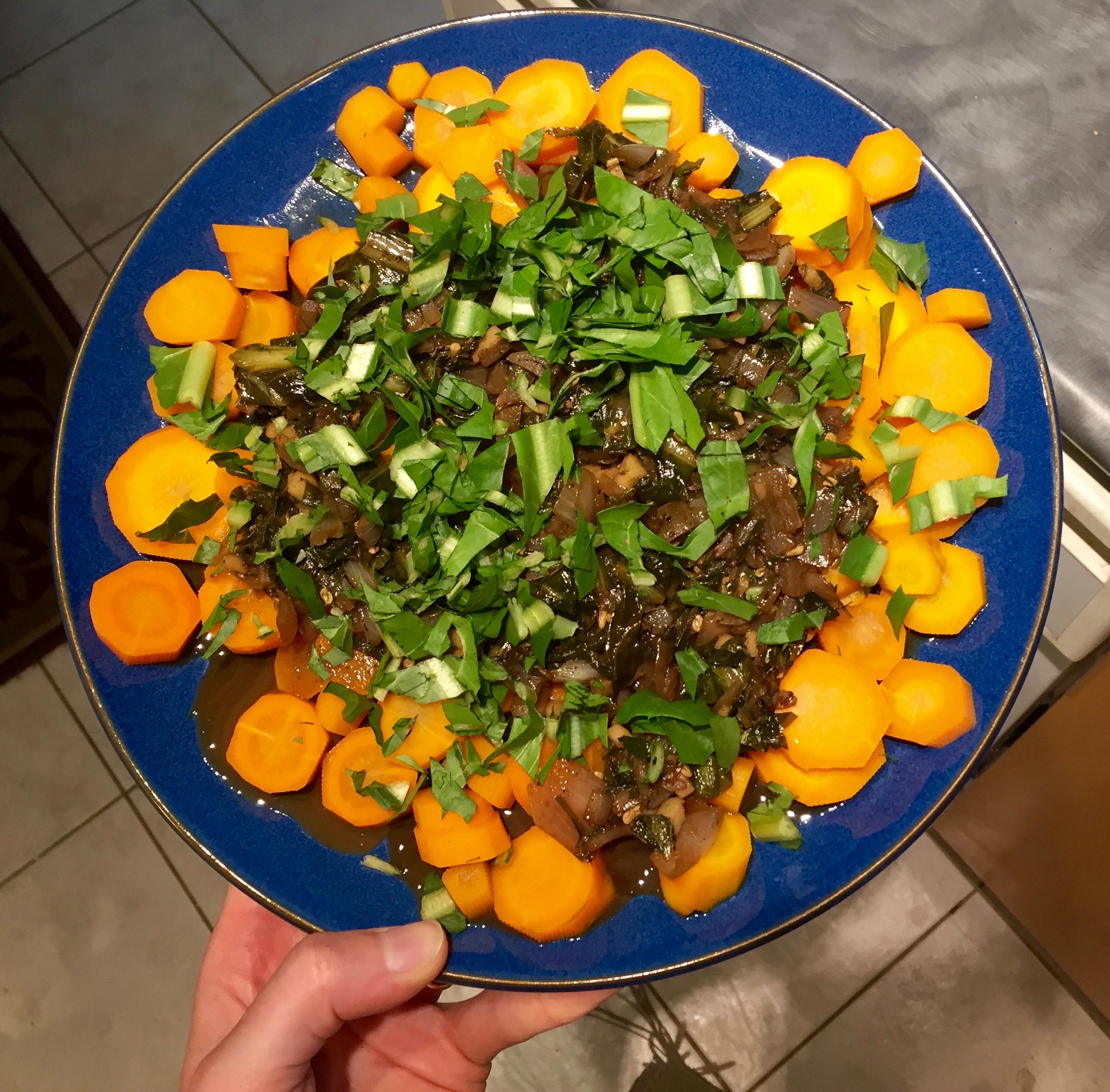 Delicious vinegar-y carrots!