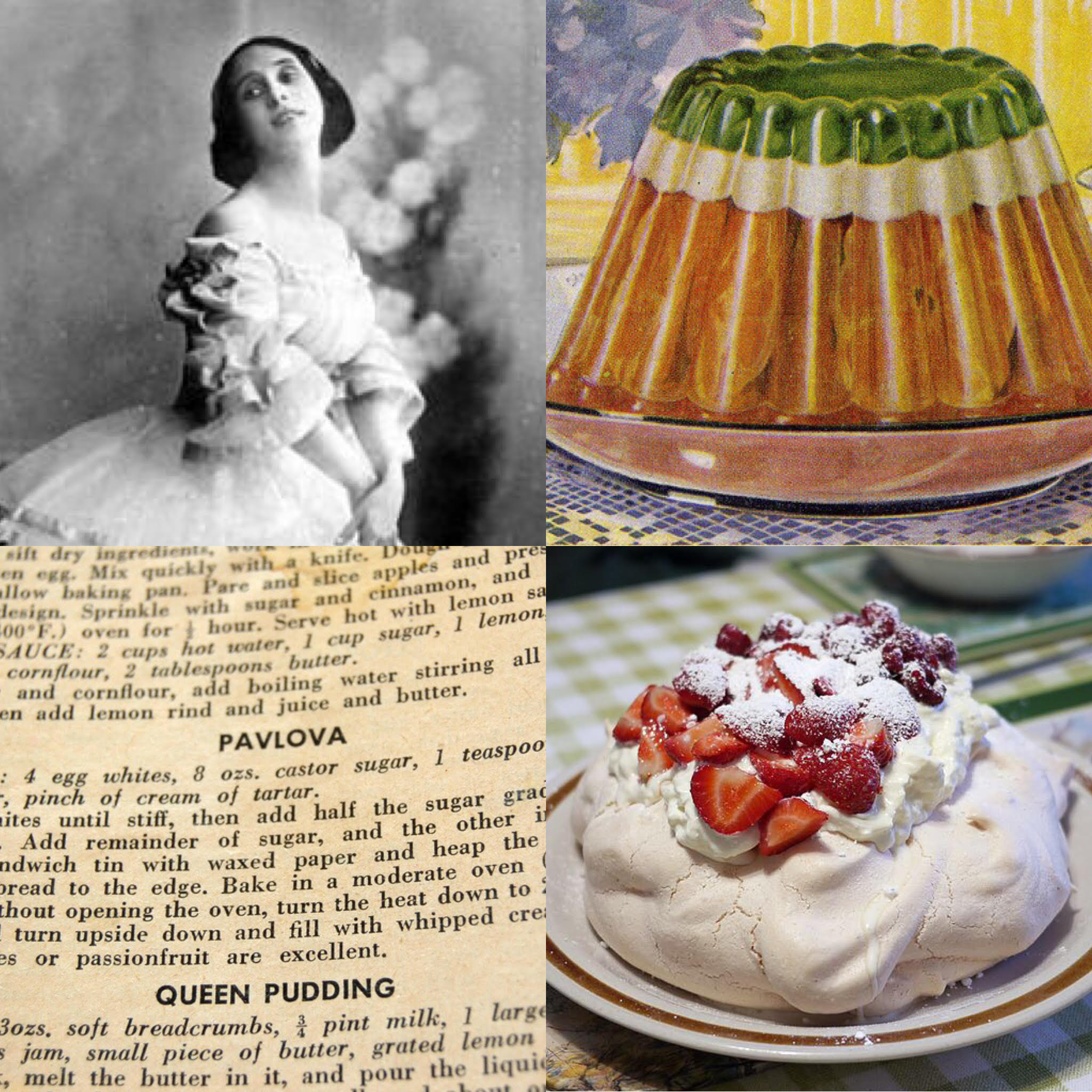 Our latest episode, out now!    Passionate Pavlovas: National Desserts from A to Z      Listen Here     From Caesar salad to Fettuccini Alfredo, we're surrounded by meals named for famous figures in history. But how many can claim to be the national dessert of not one, but two countries? This week, we're taking a look at the origins and history of the Pavlova, named for one of the world's first ballerina superstars. ..