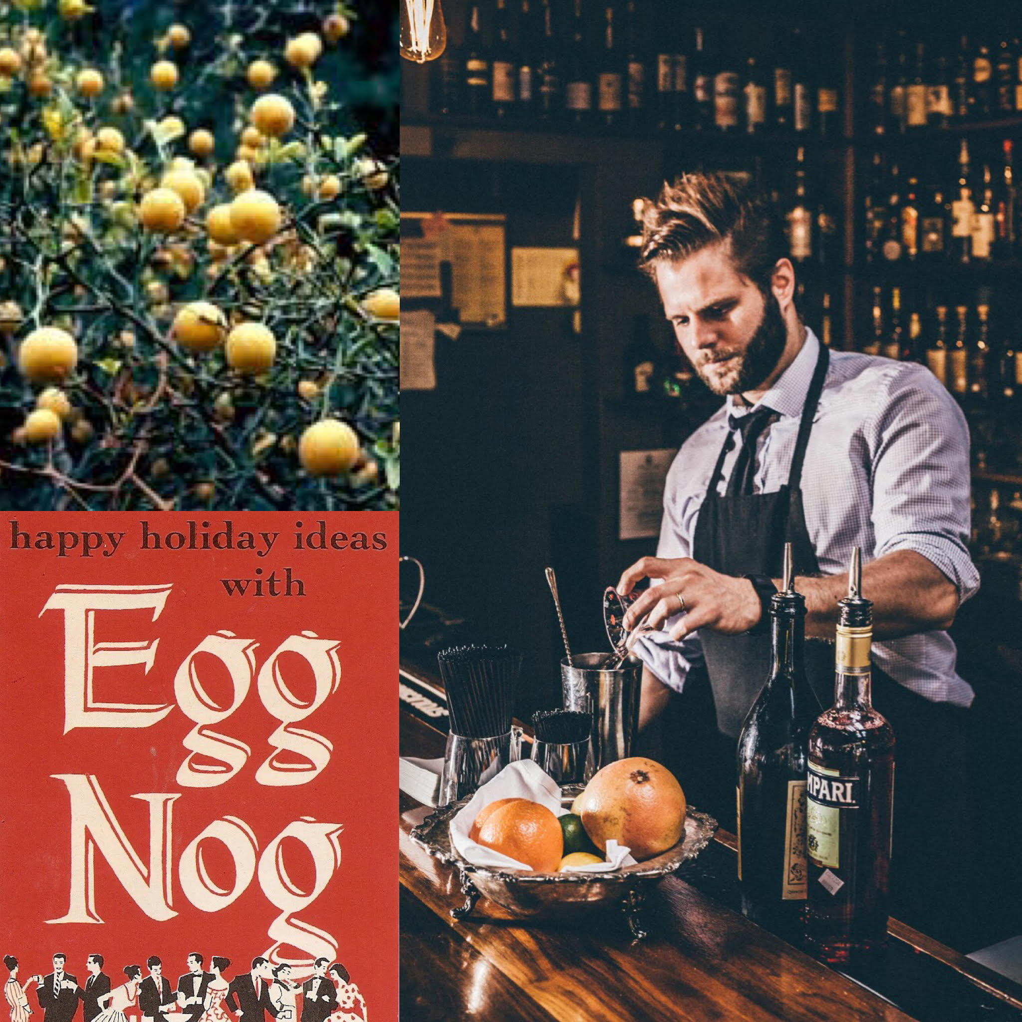 Hard Nog & Hardy Oranges: A History of Virginian Cocktails with Micah LeMon      Listen H ere    Join us for a special holiday episode where we investigate the rich mixed drink history of Virginia with Micah LeMon, bartender and author of  The Imbible, A Cocktail Guide for Beginning & Home Bartenders .