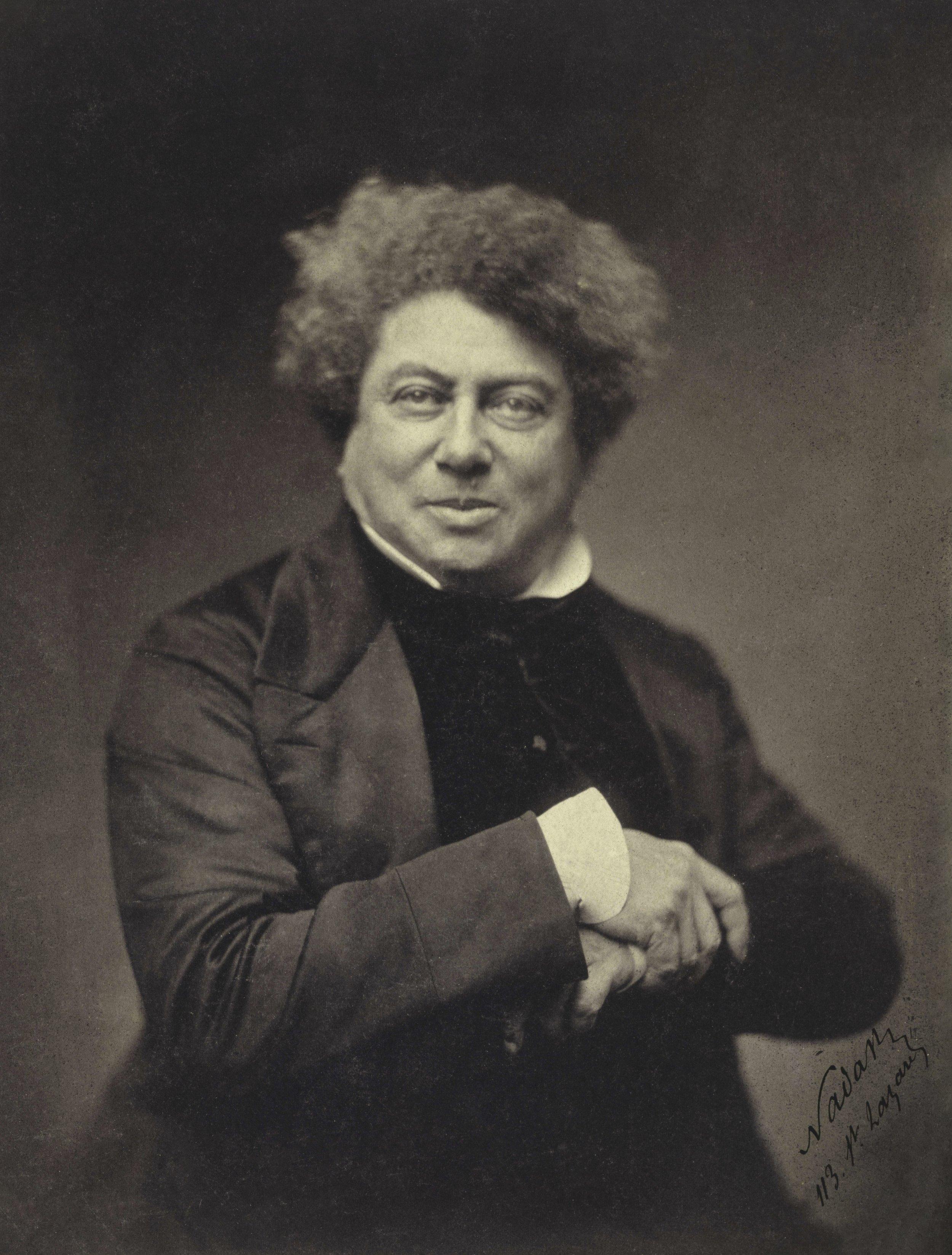 Alexander Dumas by Nadar, ca. 1855