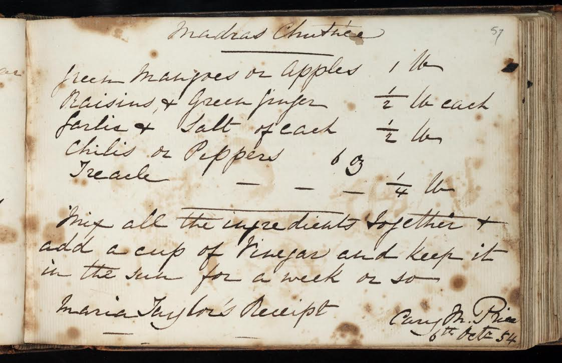 Culinary recipe book. Maria Ann Banner Price, [Montreal : 183-?].Courtesy of the Thomas Fisher Rare Book Library, Toronto.