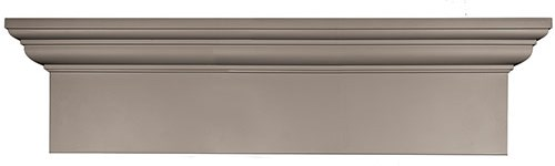 Flat Panel - This simple, sophisticated header imparts texture and depth to the exterior.