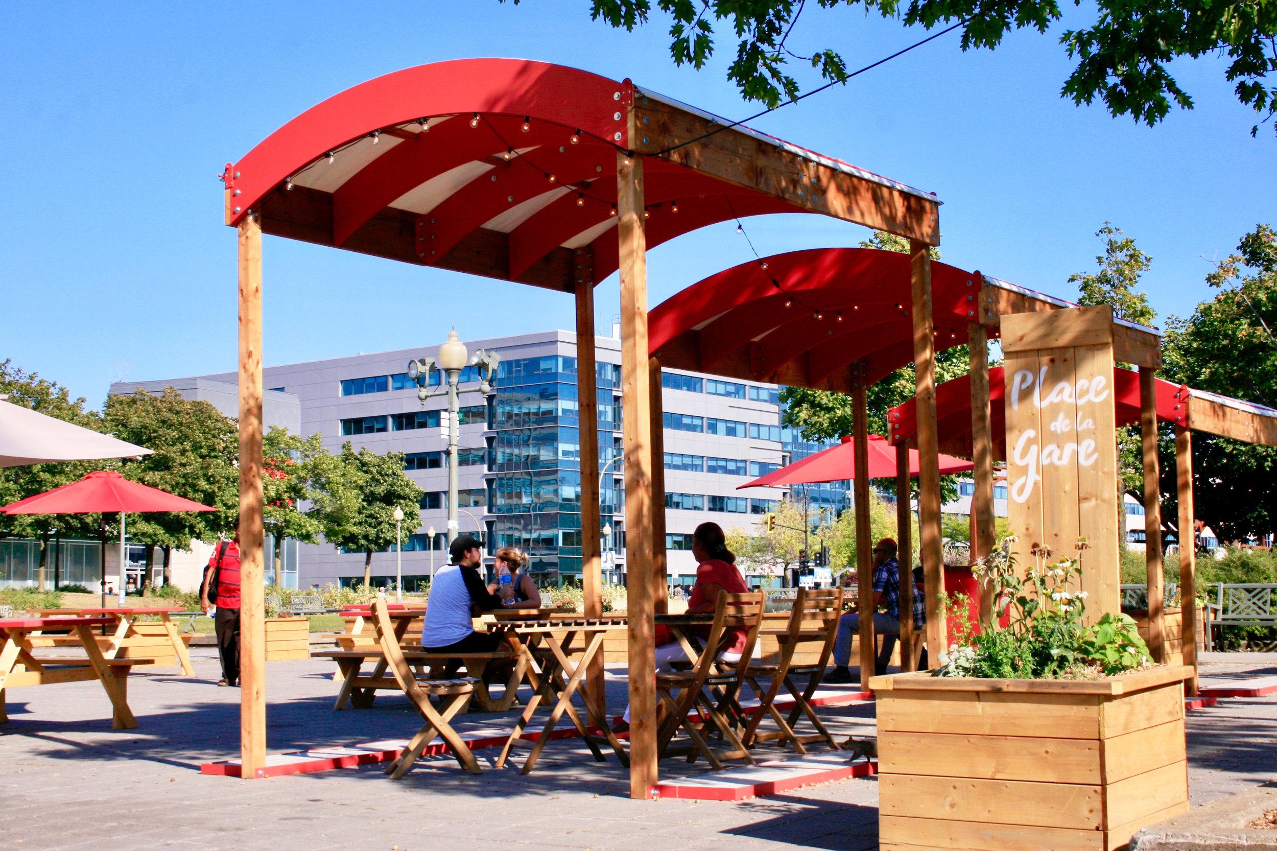Place de la Gare in collaboration with Parc Ex-nourricier -