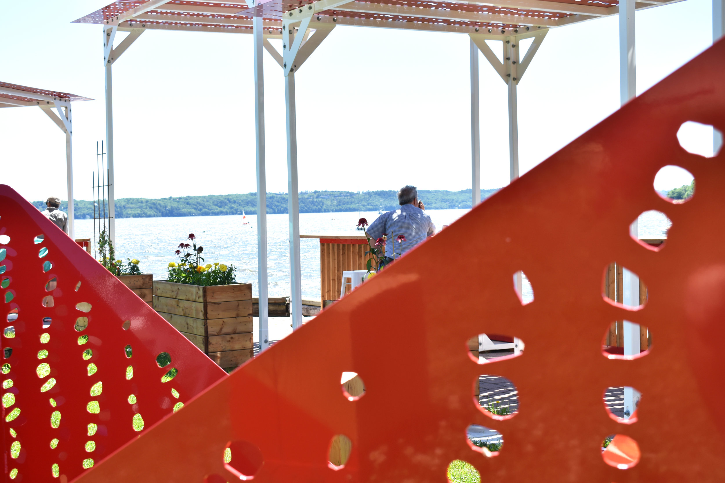 Design of the Cap-Rouge's nautical park and the Jacques-Cartier Beach road -