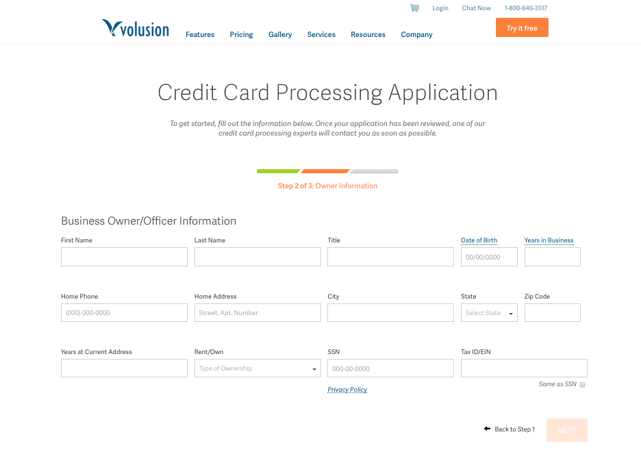 Form   Creditcard Processing   VMS Application   Volusion2.png