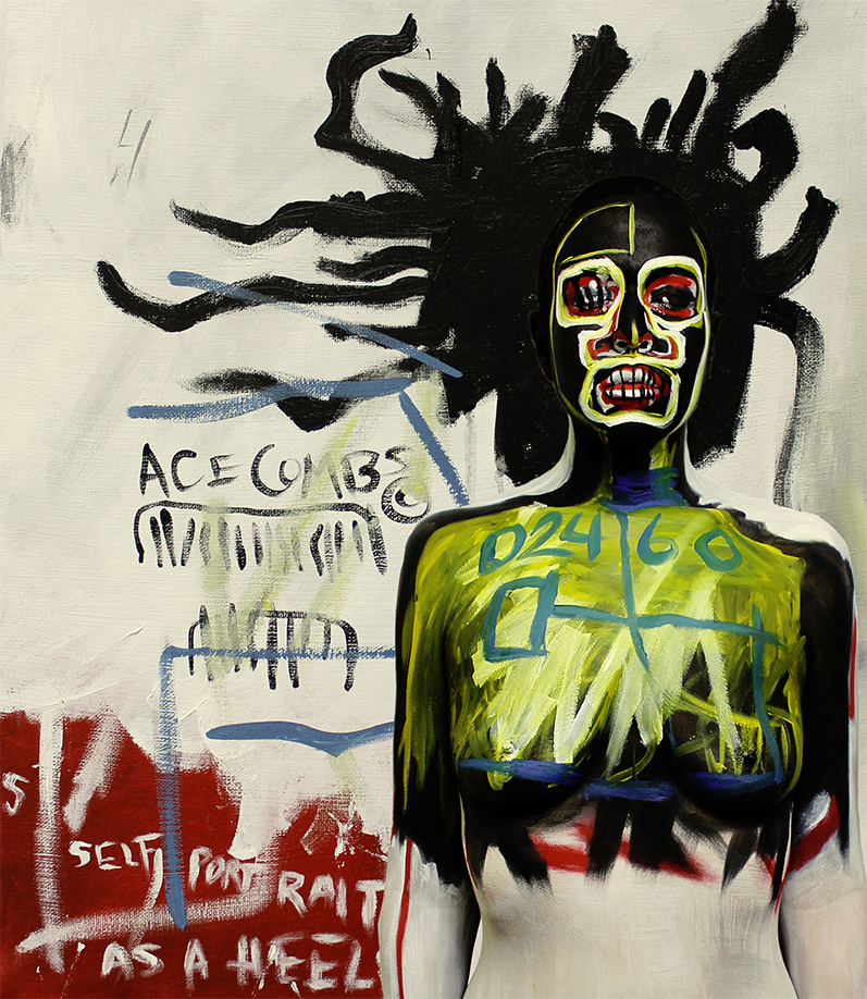 "Jean-michel basquiat's ""self-portrait as a heel"" 1984"