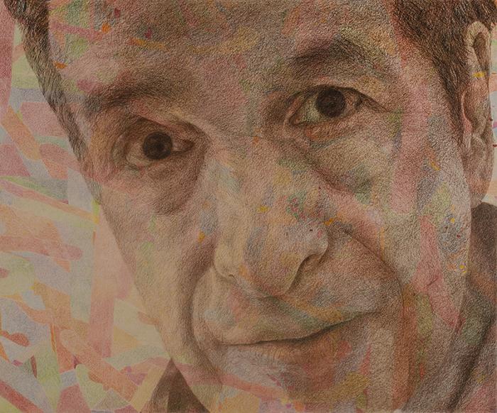 """GARY SELF-PORTRAIT"" 2015 © 49.75"" w x 42"" H [126.37 cm x 106.68 cm]"