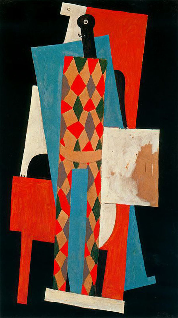 "PICASSO ""HARLEQUIN"" 1915 Museum of Modern Art"