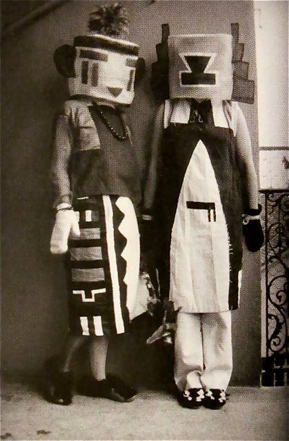 Sophie and Erika Taeuber (Hopi Indian Costumes)
