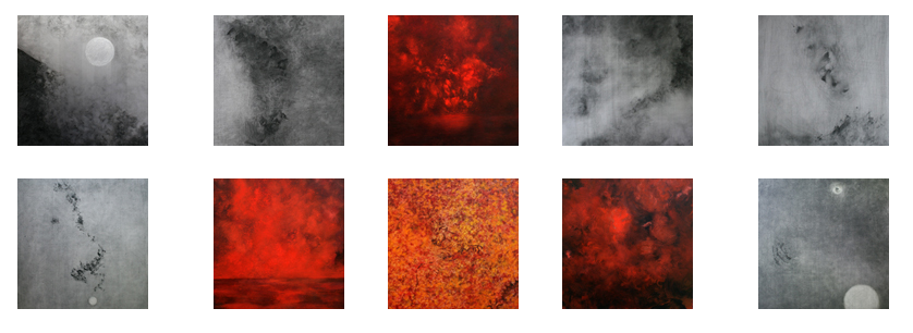 """tOP ROW: (LT TO RT)Rendezvous 2009 Oil on panel 19¾"""" x 13½"""" 50.165 CM X 34.29] [;Earth Dragon 2012 Oil on panel 25"""" x 13"""" [63.5 CM X 33.02 CM]; The Hurly Burly No. 2 2012 Oil on panel 16"""" x 12"""" [40.64 CM X 30.48 CM];Swimming DRAGON 2016 Oil on panel 27"""" x 14"""" 68.58 CM X 35.56 CM] ;Sea Dragon 2015-16 Oil on panel 25"""" x 13 """" [63.5 CM X 33.02 CM]  BOTTOM ROW:Dragon's Pearl 2009 Oil on panel 19¾"""" x 13½"""" [50.165 CM X 24.29 CM];Untitled 2012 Oil on panel 16"""" x 12"""" [40.64 X 30.47 CM]; Three Dragons 2012 Oil on panel 11 """"x 14"""" [27.94 CM X 35.56][;Shiva 2013 Oil on panel 10"""" x 8"""" [25.4 CM X 20.92 CM] ;Dragon Pearl 2009 Oil on panel 19¾"""" x 13½"""" [50.165 CM X 34.29 CM]  tHE PAIINTINGS PICTURED ABOVE ARE DETAILS . fOR FULL SIZE IMAGES INSERT THE FOLLOWING LINK:http://www.kathymuehlemann.com/current.php"""