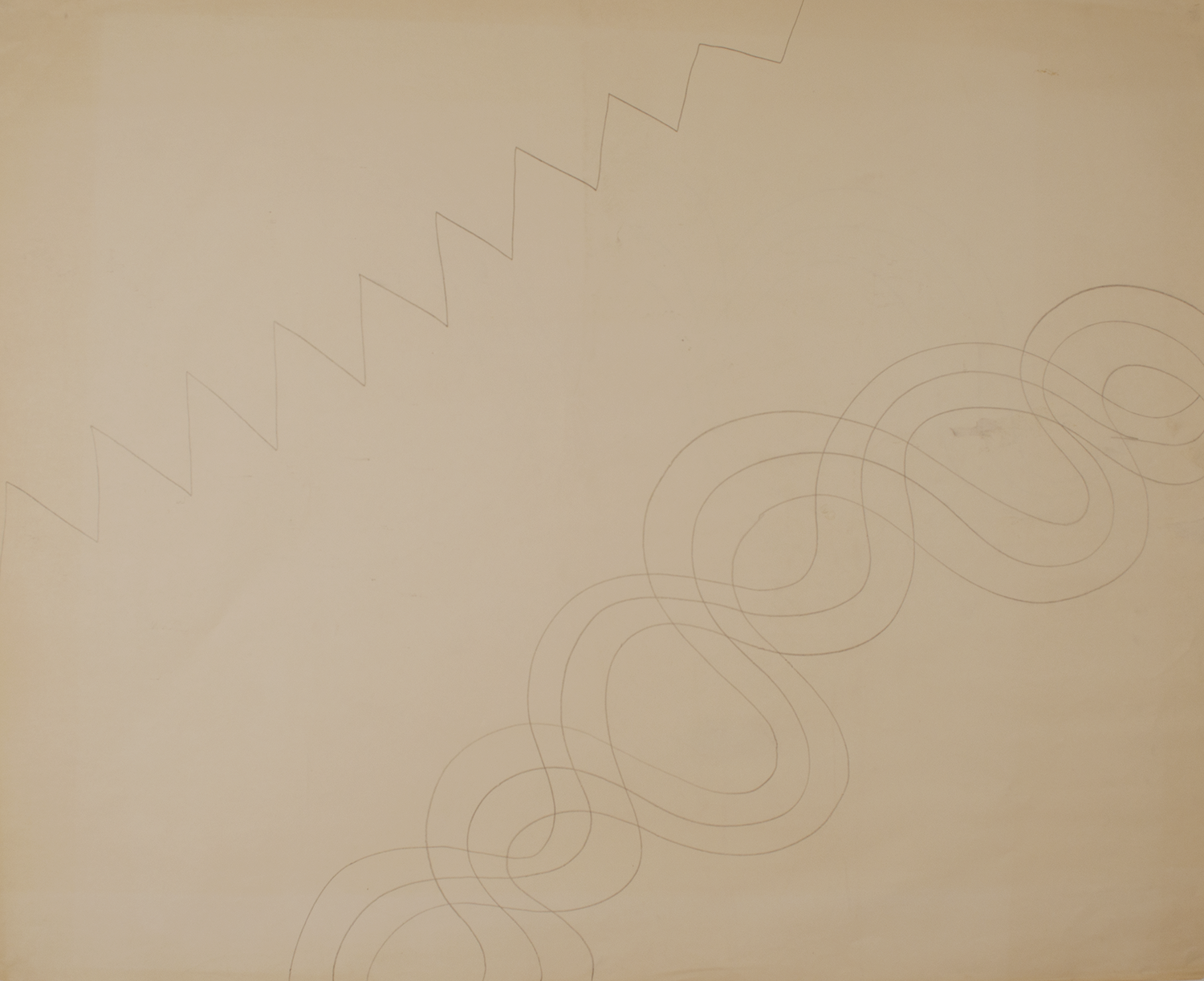 BOUNDARY    1971-72 © graphite on paper