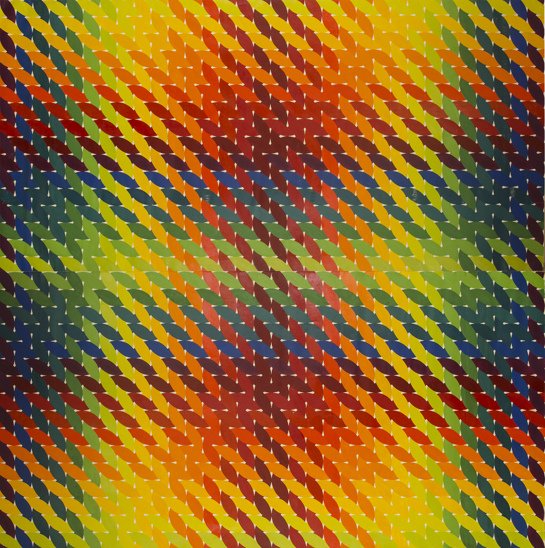 "WEAVE room 1972-1975©--CENTER PANEL 96"" x 96"" [243.84 cm x 243.84 cm]"