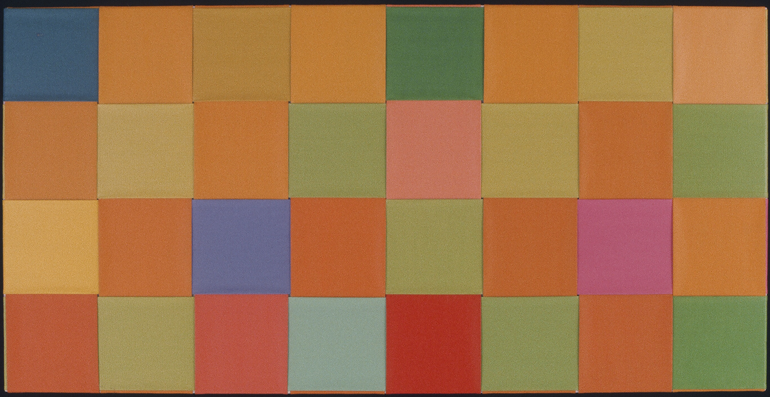 SOFT AND WARM  1975-77 ©  WOVEN ACRYLIC ON CANVAS