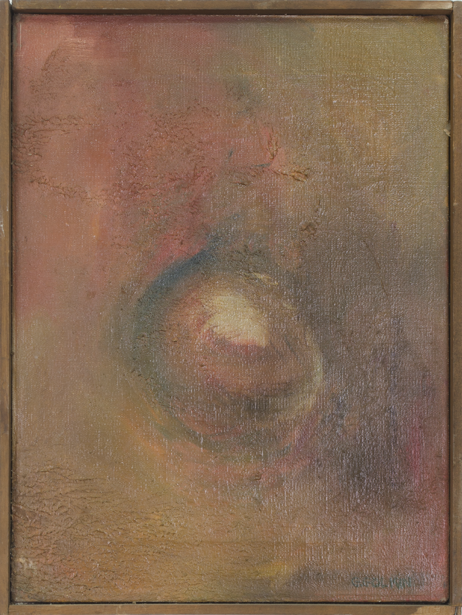 "FIRST 1959  12"" X 16""   OIL ON CANVAS"