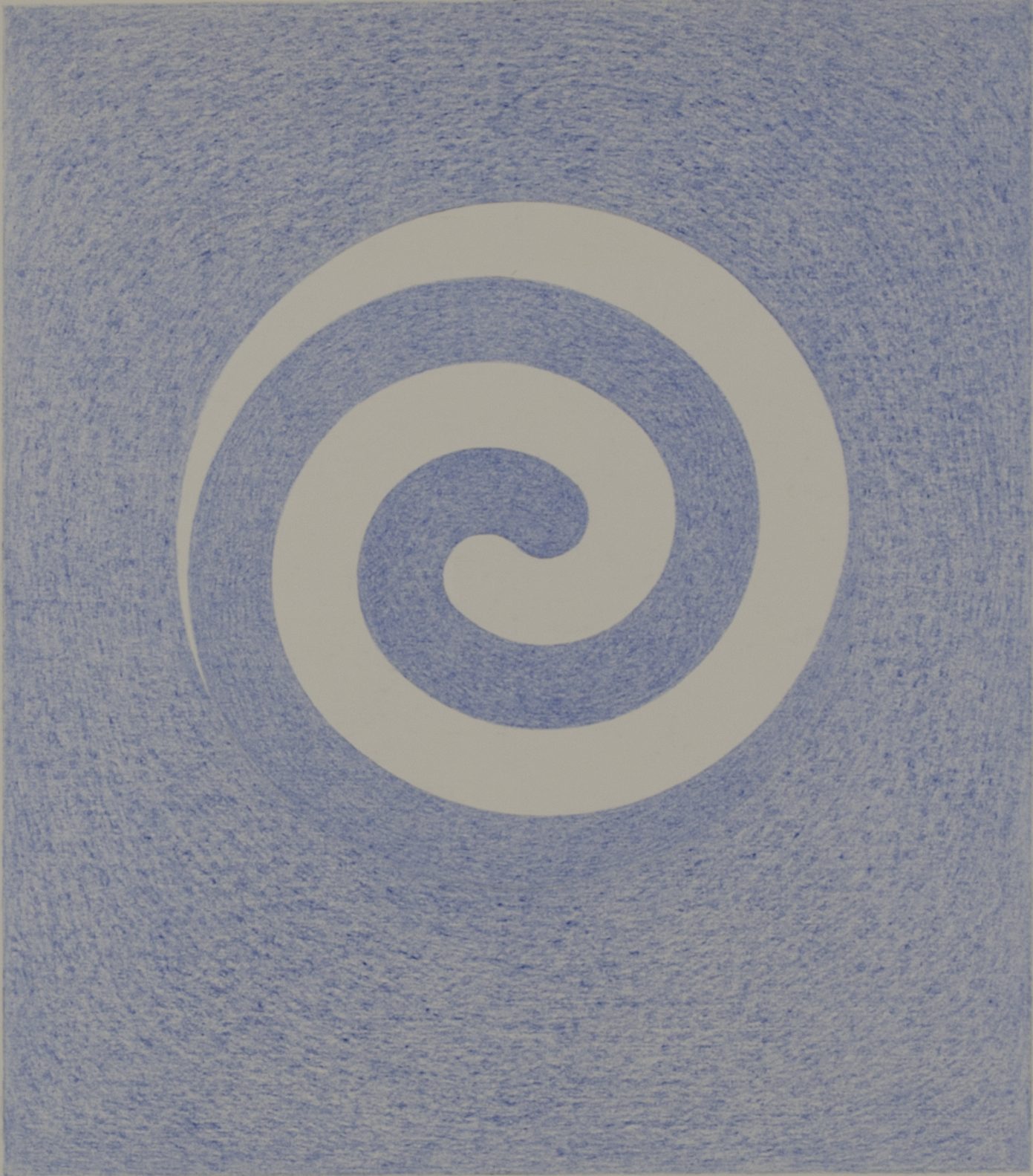 "SPIRAL HB3T 1983-844 ©  COLOR PENCILS ON PAPER             9"" x 10.5"""