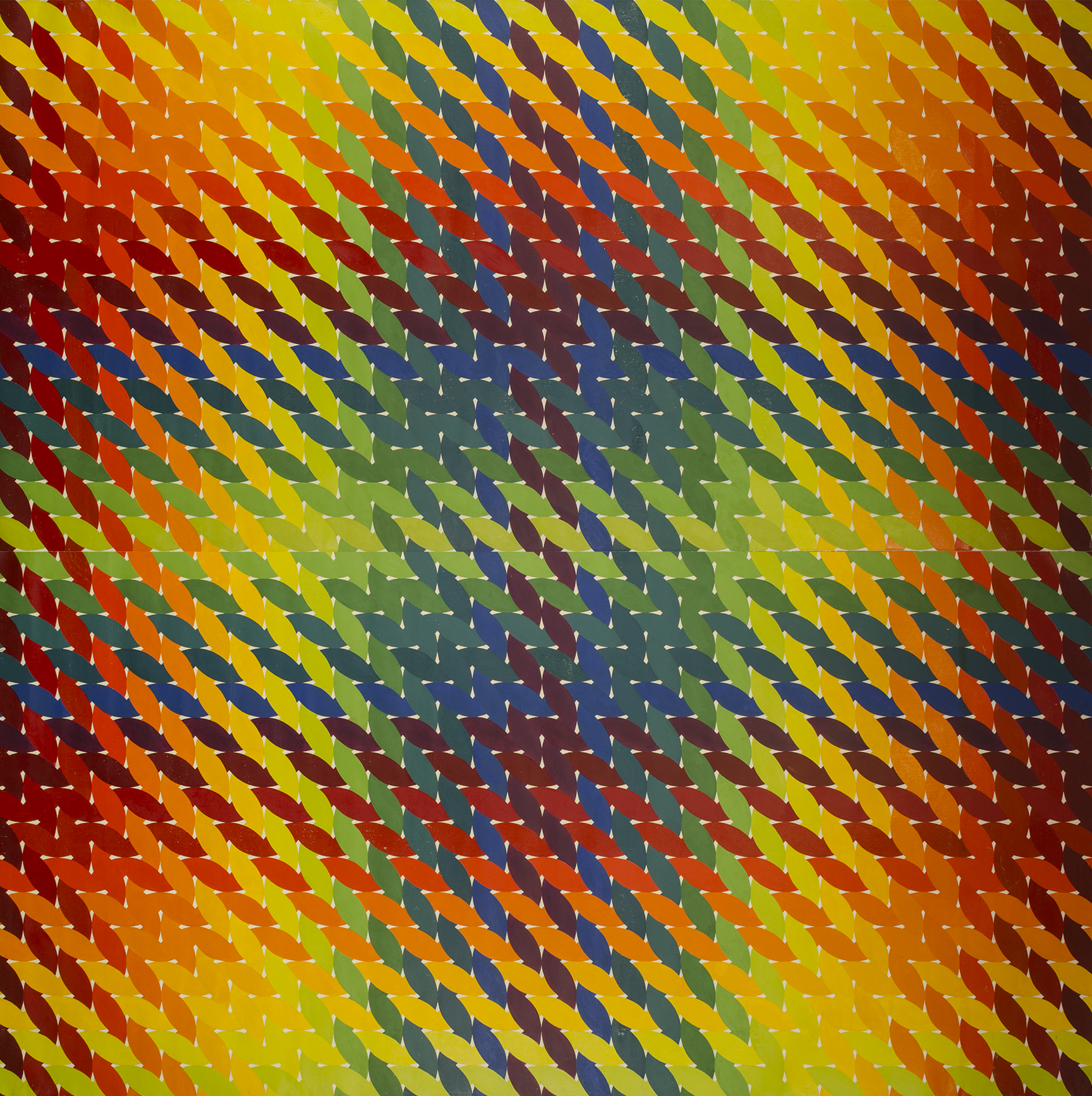 "WEAVE ROOM 1972-1975©- RIGHT SIDE PANEL 96"" X 96"" [243.84 CM X 243.84 CM]"