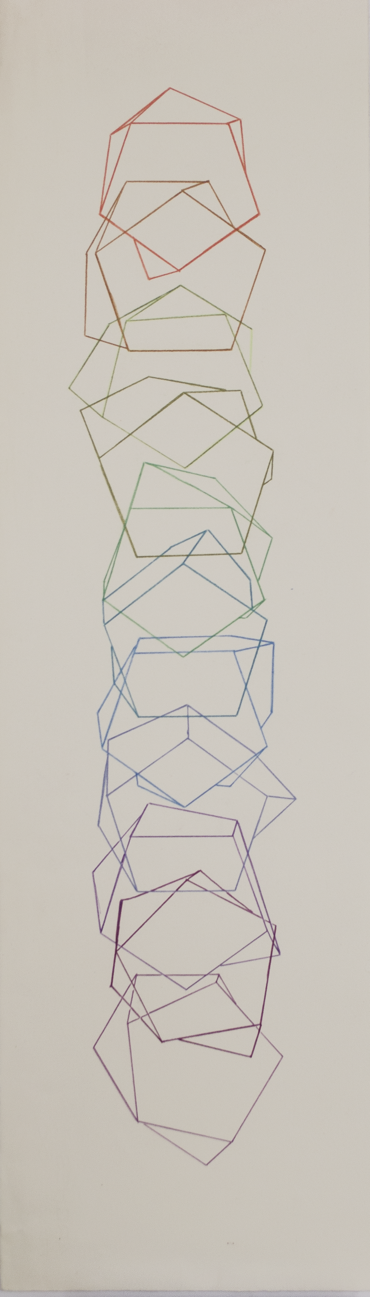 "CELEBRATING THE SCUTOID; SCUTOID #1 © 2019 9"" (w) x 30"" (h)"