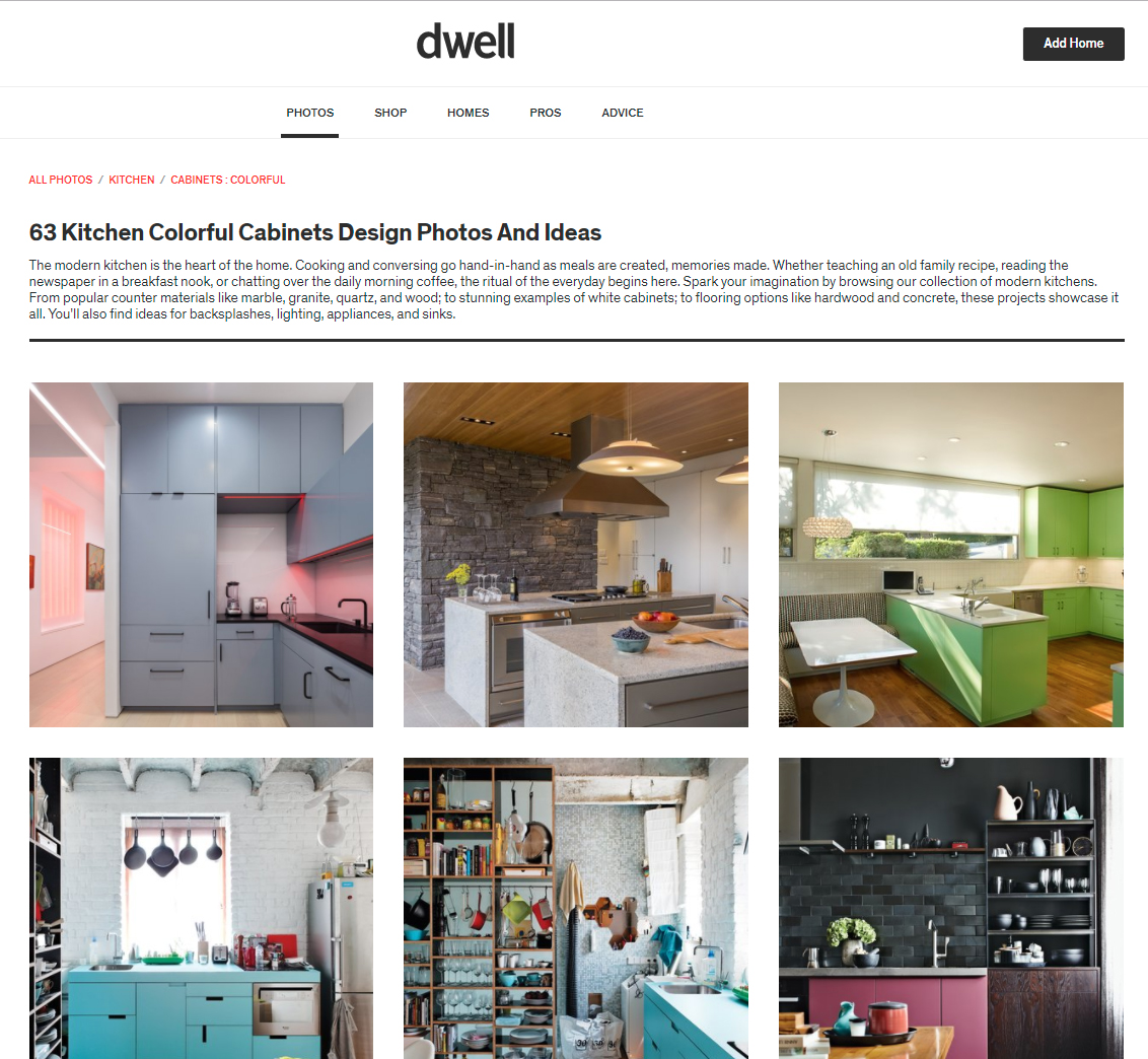 Dwell - 63 Kitchen Colorful Cabinet Designs