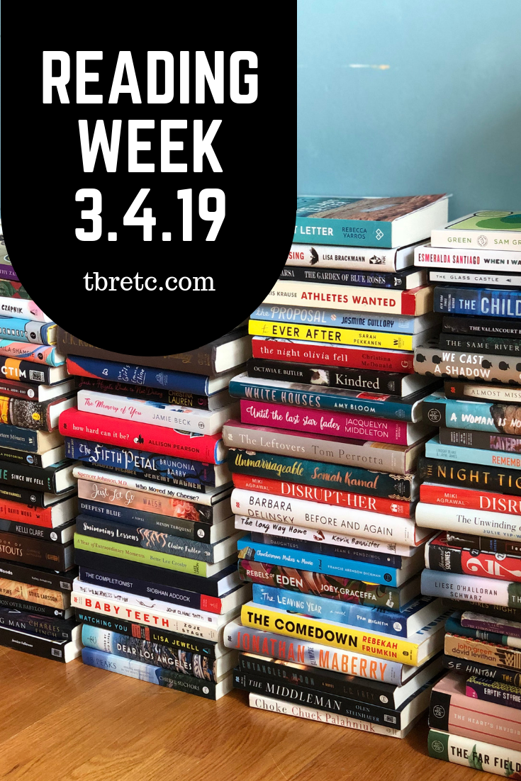 Reading Week 3.4.19 | TBR etc.