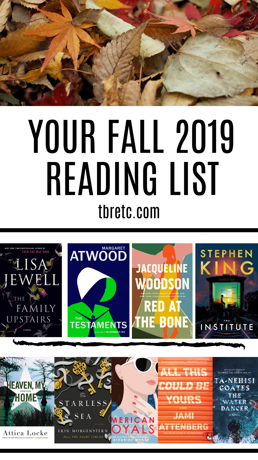 Your Fall 2019 Reading List! | New Releases from Tried and True Favorite Authors | TBR etc. | Fall reading, Fall new releases
