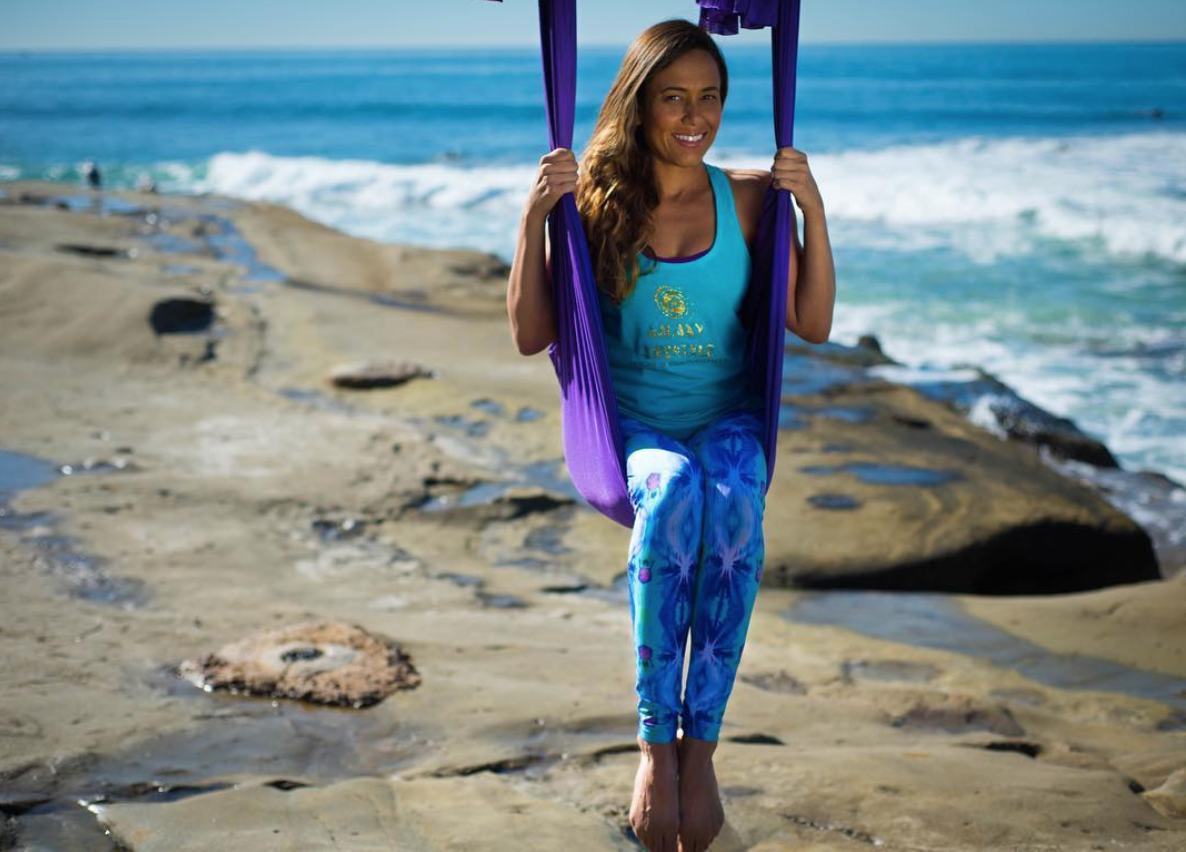 """Tracy Vogt - Certified Aerial Yoga Instructor""""I recently gave birth to a healthy baby boy. I am extremely grateful to Michelle for guiding me with a constant meditation practice throughout my pregnancy. This helped me with my breathing and birthing process. She is so genuine and focused on you when you are having a meditation session with her. Michelle was a huge part of me feeling comfortable and at easy will pregnant."""""""