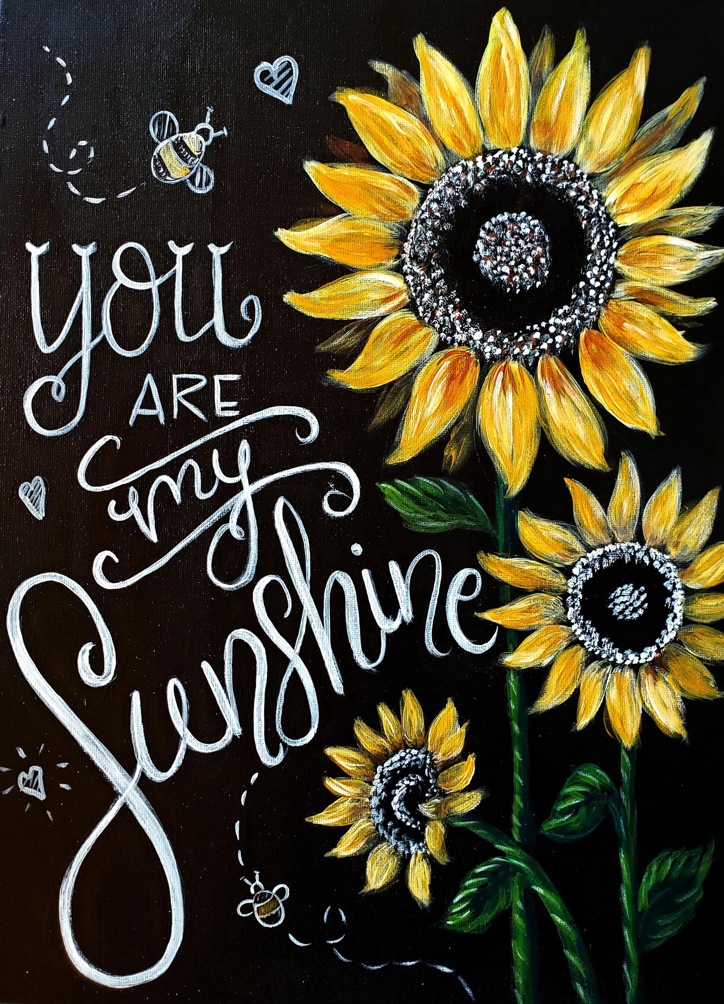 You Are My Sunshine Paint Night Set Apart Art