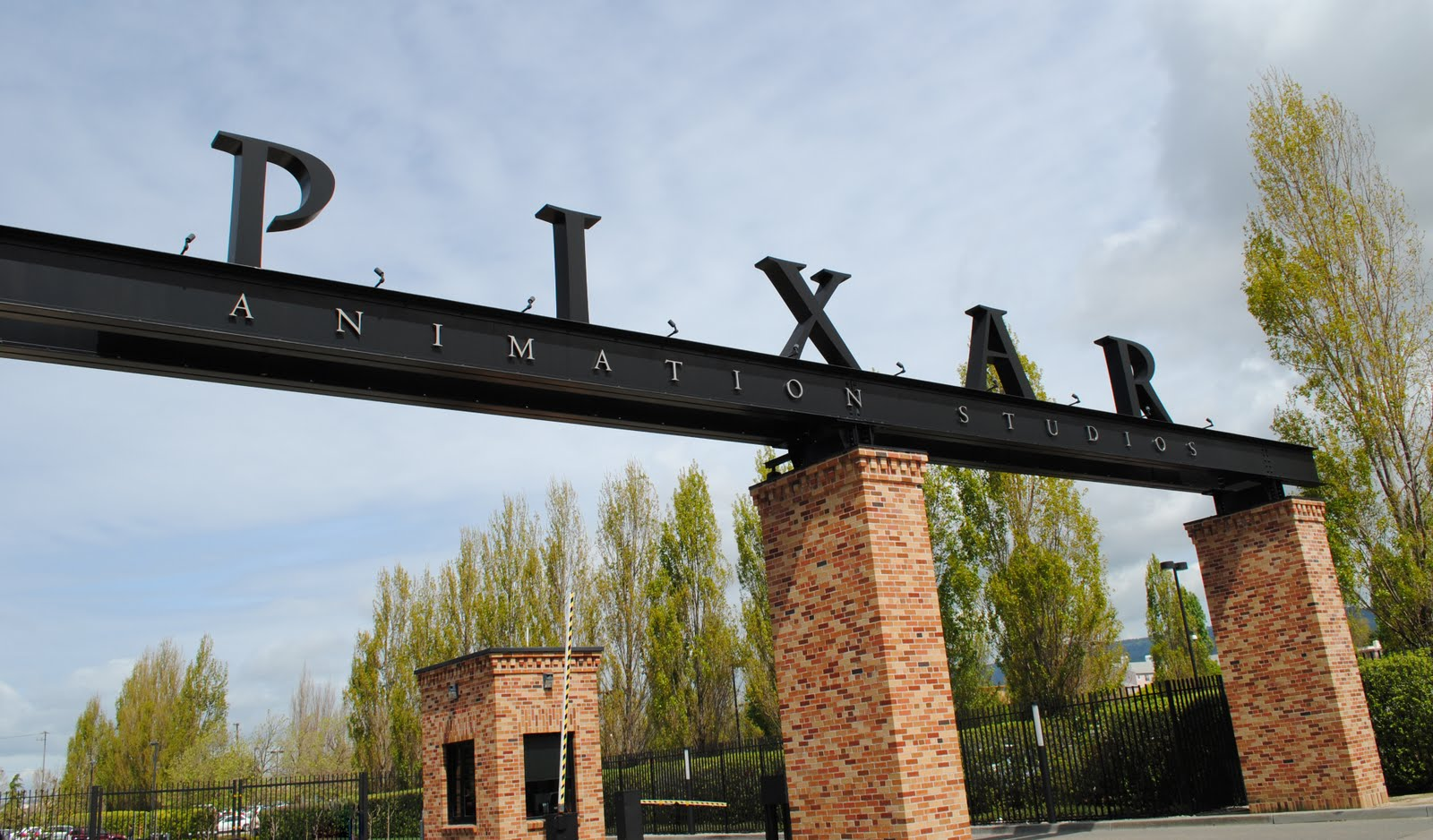Pixar's front gate, Emeryville, CA