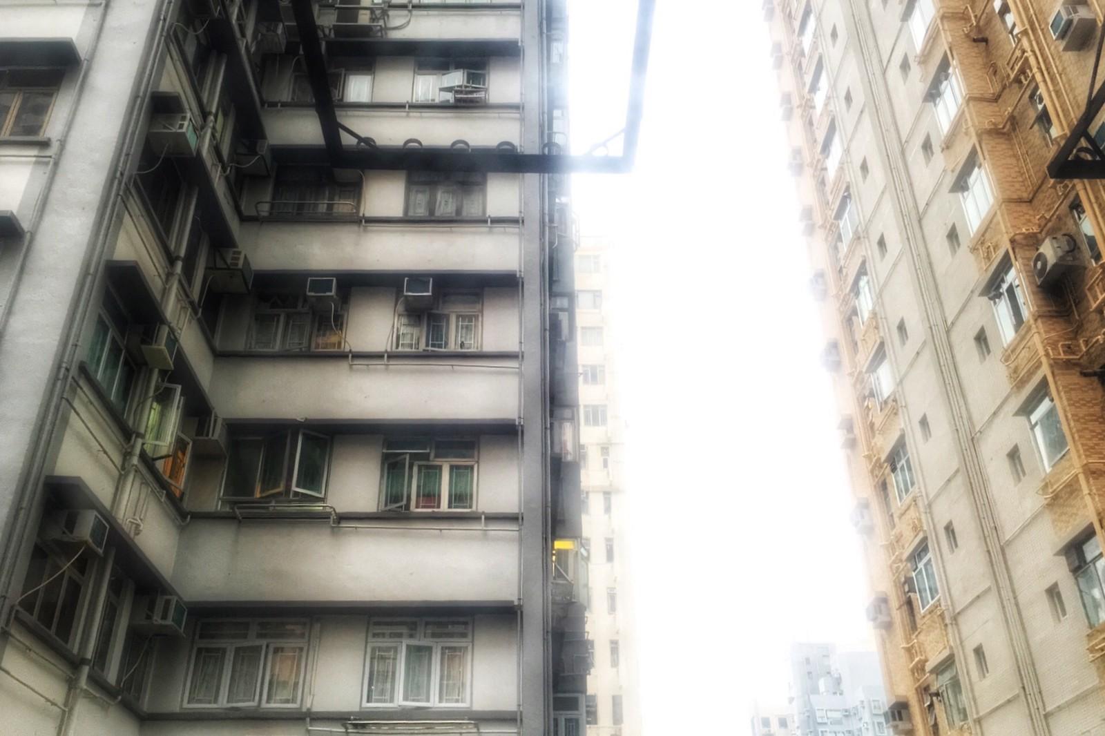 The view from my Airbnb window, Sai Ying Pun, Hong Kong