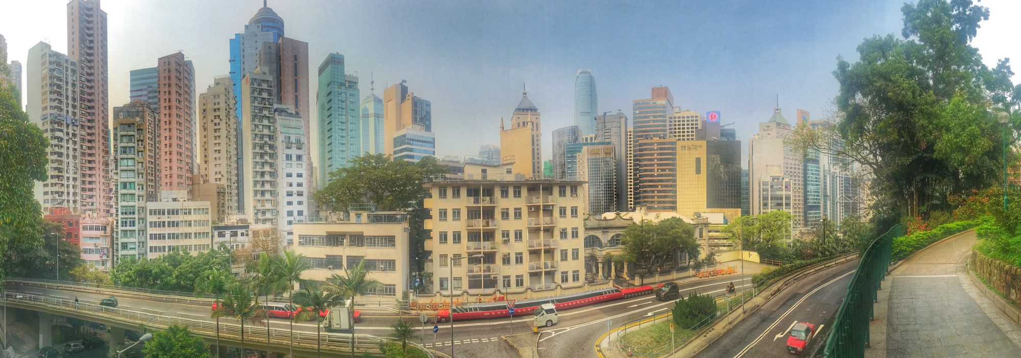iPhone 6 panorama of Central Hong Kong from the Botanical Gardens