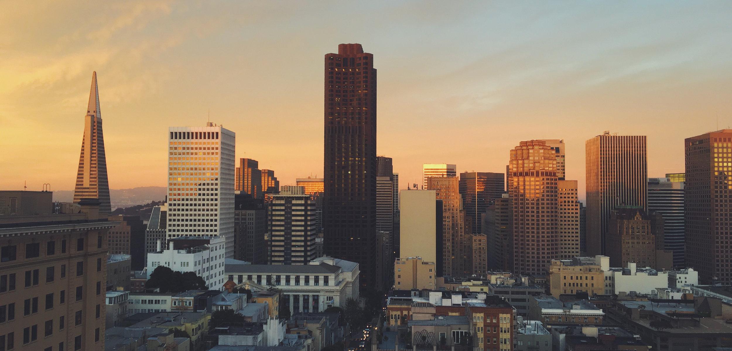 San Francisco skyline by  Jared Erondu